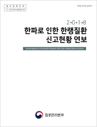 2018년 한파로 인한 한랭질환 신고현황 연보